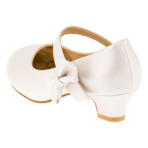 Max Shoes, Scarpe col tacco bambine #182ws Weiss