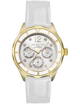 s.Oliver Damen-Armbanduhr Analog Quarz Leder SO-2540-LM