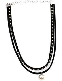 28f9d817e621 Desconocido Joyería Collar Pendiente Punk Gótico Gargantilla Perla de  Imitación Encanto ...