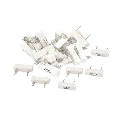 sourcingmapr-30-pezzi-39-ohm-10-tolleranza-7-watt-resistore-di-alimentazione-di-cemento-ceramico