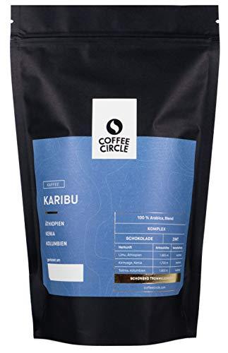 Coffee Circle | Premium Kaffee Karibu | 350g gemahlen | Filterkaffee mit schokoladiger und zimtiger Note | 100% Arabica | fair & direkt gehandelt | frisch & schonend geröstet