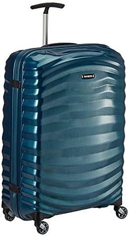 Samsonite Lite-Shock Suitcase 4 Wheel Spinner 69cm Petrol