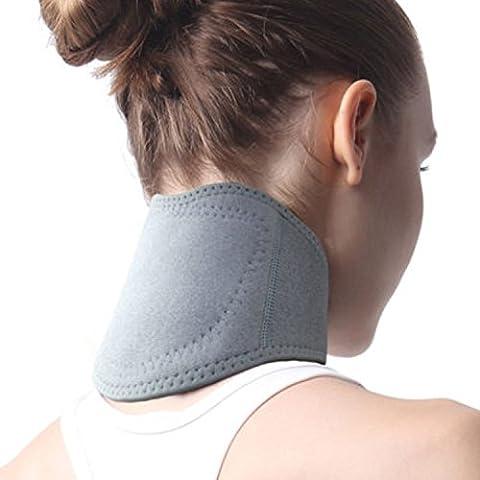Premium Universal Self Chauffage Neck Brace protection support de cou Foolerhome souple et flexible Collier cervical Santé magnétique Thérapie physique Protège-nuque pour soulager les douleurs et les douleurs musculaires gratuit Taille unique Compatible avec la plupart des 1pièce