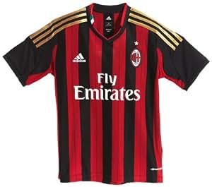 adidas Kinder kurzärmliges Trikot AC Milan Home Jersey Youth, Black/Acm Red Home 11, 140, G77260
