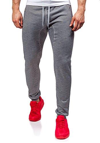 BOLF – Pantaloni sportivi – Jogging pantaloni – Baggy – J.STYLE 6020 – Uomo Grigio