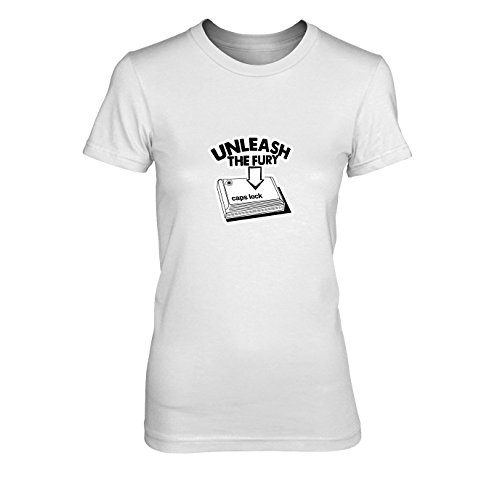 Caps Lock Fury - Damen T-Shirt, Größe: XL, Farbe: ()