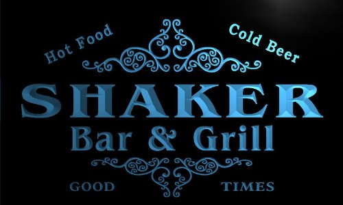 u40829-b SHAKER Family Name Bar & Grill Home Decor Neon Light Sign Barlicht Neonlicht Lichtwerbung Grill Shaker