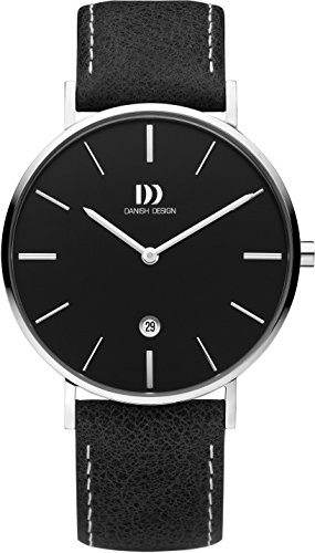 Danish Design Mens Analogue Classic Quartz Watch with Leather Strap DZ120702