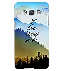 Printdhaba Quote D-4897 Back Case Cover For Samsung Galaxy E5