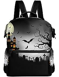 Preisvergleich für COOSUN Spooky Halloween Hintergrund Schule Rucksack-Spielraum-Rucksack Multi