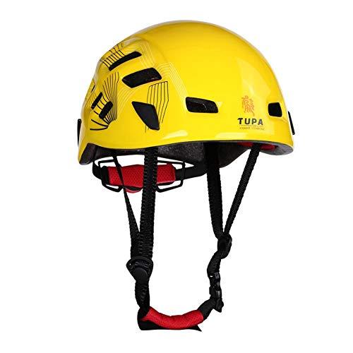 Schutzhelm Fahrradhelm Arbeitshelm Industriekletterhelm für Outdoor Sicherheit Sportliche Aktivitäten wie Radfahren Klettern Bergsteigern Wandern mit Tragtasche Robust Atmungsaktiv Einheitsgröße Gelb