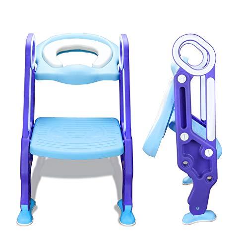 Toilettentrainer mit Treppe Justierbarer für Kinder Lerntöpfchen Toilettensitz Rutschfest