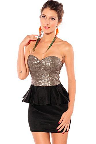 Dissa® femme Noir SY2669-2 robe de cocktail Noir
