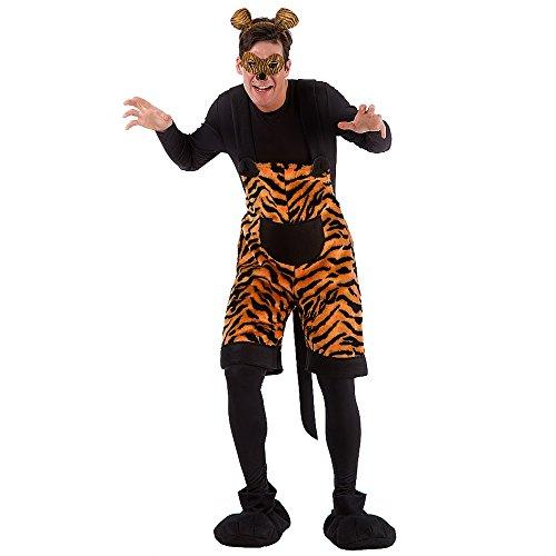 Carnival Toys 80976 - Tiger, Herrenkostüm mit Maske und Haarreif, M-L Preisvergleich