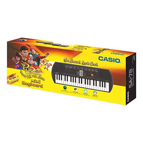Casio SA78 Mini Portable Keyboard with Adaptor and Free Rudra Stationery Box