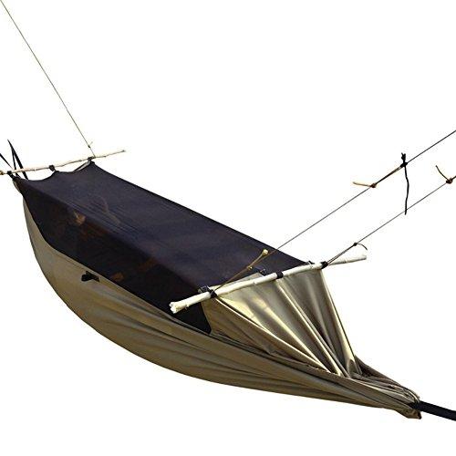 Free soldier portable pieghevole zanzariera 1–2persone in nylon tessuto leggero e resistente all' aperto amaca per campeggio, wolf brown
