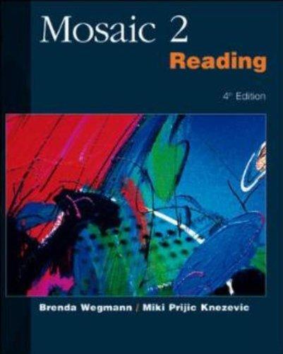 Mosaic 2: Reading (No. 2) by Brenda Wegmann (2001-10-01)