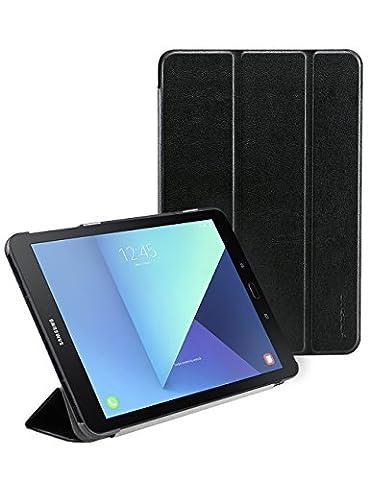 Galaxy Tab S3 Hülle, Yoozon Ultra Dünn Superleicht Intelligent Hart Schutzhülle [Auto Schlaf / Wake up] für Samsung Galaxy Tab S3 (2017,9.7) (Schwarz)