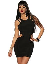 Minikleid Damen schwarz Oberteil Kleid Dress kurz