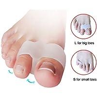 Fußpflege Hallux valgus Doppel Ring Silikon-Zehen Abscheider täglich-verwenden Sie elitzia ETFT018 (Größe L) preisvergleich bei billige-tabletten.eu