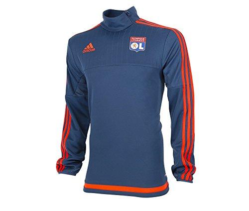 Adidas Sudadera OL Olympique Lyonnais Superior de Entrenamiento, Todo el año, Hombre, Color Azul ...