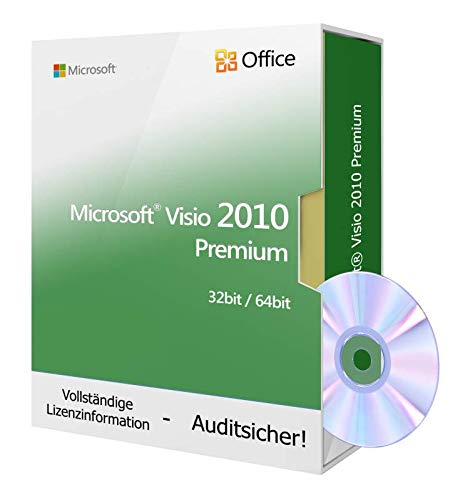 Microsoft® Visio 2010 Premium Professional inkl. Tralion-DVD, inkl. Lizenzdokumente, Audit-Sicher (Architektur-diagrammen)
