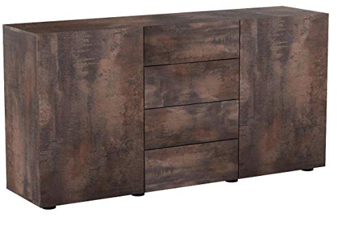 Vladon Buffet Commode Massa en Coloris Acier Antique