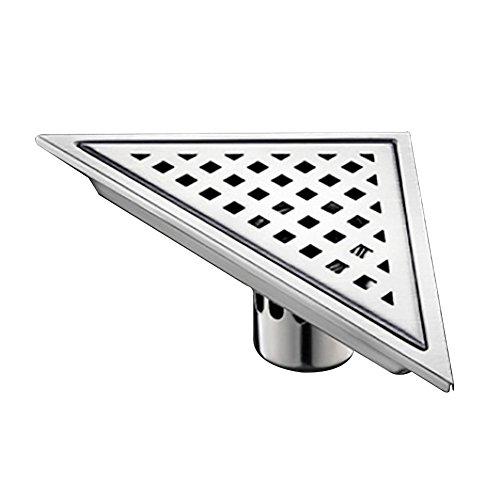 dilou Dreieck Boden Drain Badezimmer Dusche Zimmer Edelstahl Deo Stealth Corner Stock Drain, C - Copper Sheet Stock
