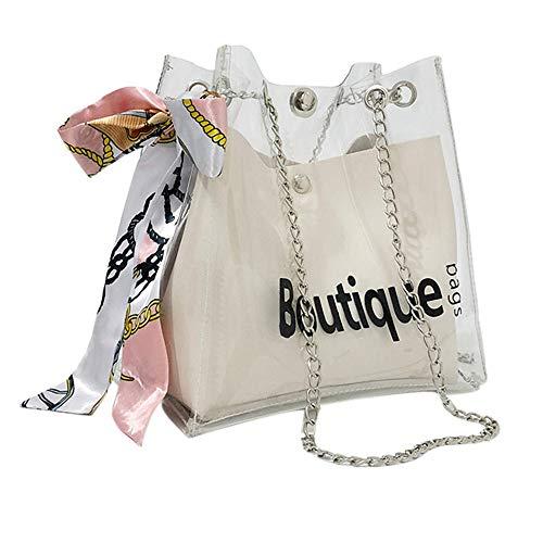 Chloe Handtasche Weiß (OIKAY 2019 Frauen Tasche Handtasche Schultertasche Umhängetasche Mode Neue Handtasche Damen Umhängetasche Schultertasche Transparente Strand Elegant Tasche Mädchen 0220@098)