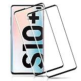 OUTERA Pellicola Protettiva per Samsung Galaxy S10 Plus,Vetro Temperato Vetro Protettivo per Samsung Galaxy S10+ [9H Durezza] [Curva 3D] [Copertura Completa][Compatibile con Custodia]-[Nero][2 Pezzi]