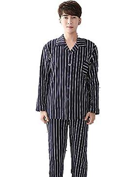 WYN Pijama De Rayas De Algodón Clásico De Los Hombres,XXL
