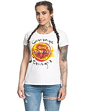 Mulan Stronger Camiseta Mujer Blanco