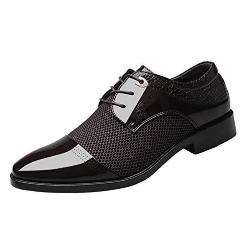 Männer schnüren sich Geschäfts-Leder-Schuh-beiläufige bequeme Hochzeits-Schuh-Mann-Klage-Schuhe