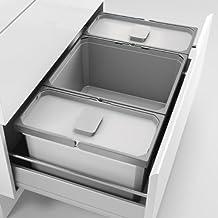 Naber Cox® Box 1T 1200-6 hellgrau. Abfallsammler