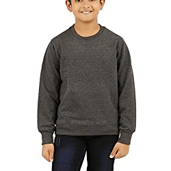 Clifton Boys Cotton Sweat Shirt R-Neck-Charcoal Melange-8-9 Years