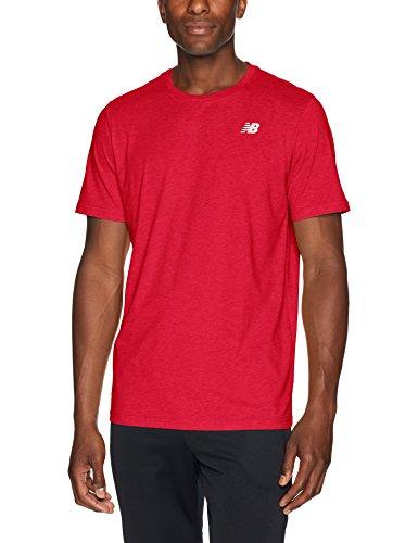 New Balance Herren Heather Tech T-Shirt, Rot - Team Red, M -