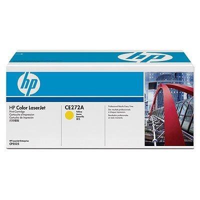 HP CE272A 650A Kartusche Original Tonerkartusche für Drucker Color LaserJet Enterprise CP5520/CP5525/M750Druckkapazität: 15000Seiten Tinte gelb