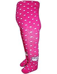 EBI& EBI - Gepunktete Strumpfhosen für Mädchen Maus, pink