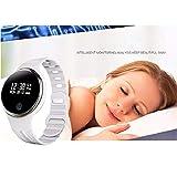 Elektronisches Armband E07 Wasserdichtes Bluetooth 4.0 Smart Armband Fitness Tracker Schrittzähler Smart Watch Band Für IOS & Android Elektronisches Armband (Farbe : White)