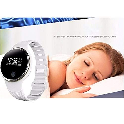 FUNXS E07 wasserdicht Bluetooth 4.0 Smart Armband Fitness Tracker Schrittzähler Smart Watch Band für iOS & Android Übungs-Tracker (Farbe : White) Wrestling Warm Ups