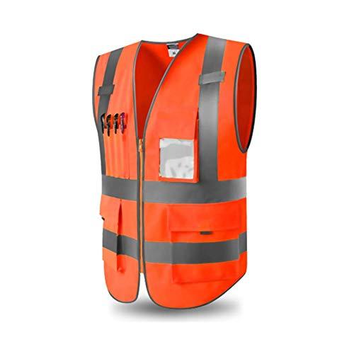 iBâstte Warnweste Sicherheitweste mit Taschen, Warnwesten gelb knitterfrei reflektierende Weste Sicherheitswarnwesten Arbeitsweste Hohe Sichtbarkeit komfortabel luftdurchlässig