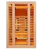 Home Deluxe - Infrarotkabine - Redsun M Deluxe Plus - DUO Strahler: Vollspektrum- und Magnesiumstrahler - Holz: Hemlocktanne - Maße: 120 x 105 x 190 cm - inkl. komplettem Zubehör