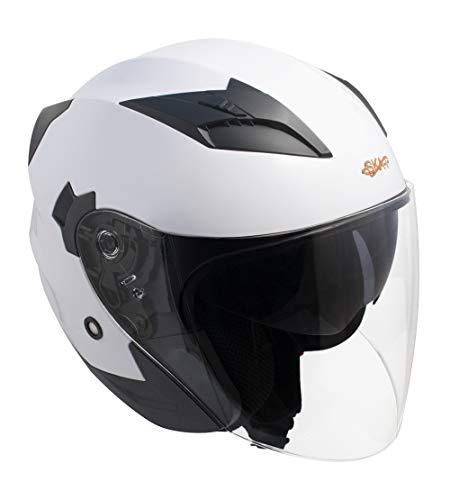 Casco jet SKA-P 1PH BOLT Bianco metal, L