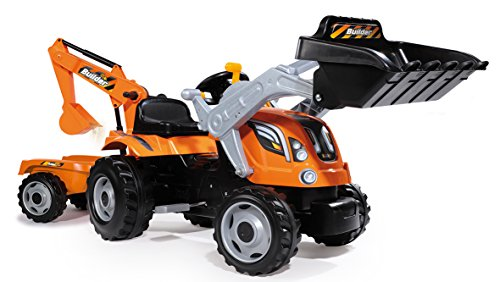 *Smoby 7600710110 –  Traktor Builder Max, Outdoor und Sport, orange*