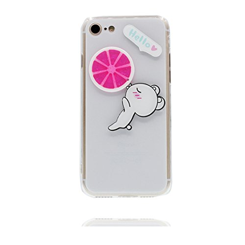 iPhone 6S Plus Copertura,iPhone 6 Plus Custodia,Caso grazioso del coniglio modello TPU Slim Fit Case Cover for iPhone 6S Plus /6 Plus 5.5 #2