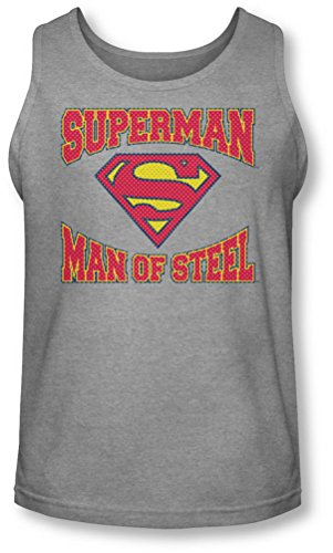 Superman - - Männer Man Of Steel Jersey Tank-Top Heather
