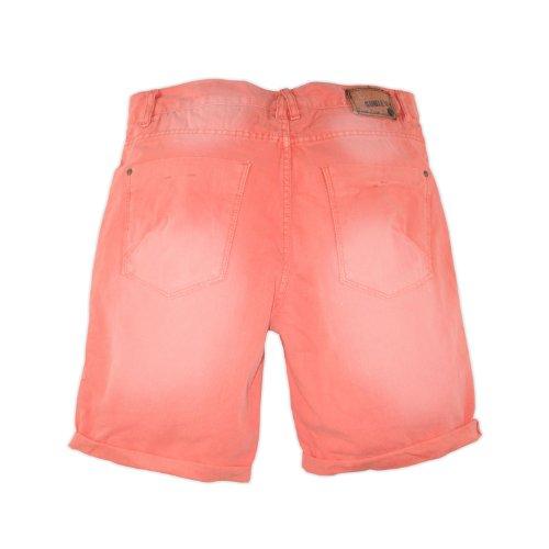 Eight2Nine by sublevel short bermuda pour homme style jean 5 poches surplus short délavé Rouge - Pêche