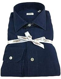 274affa4a4 BORRIELLO NAPOLI Camicia Uomo Manica Lunga 100% Lino Tinto in Capo Made in  Italy