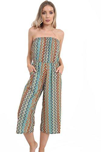 WearAll - Combinaison bain du soleil en style 'harem' - Combinaisons - Femmes - Tailles 36 à 42 Mazzoni