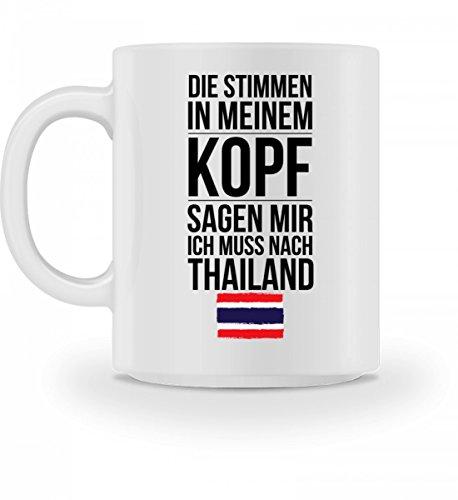 Galeriemode Lustige Tasse mit Spruch Ich muss nach Thailand Geschenk für Mama Papa Chef Kollegen
